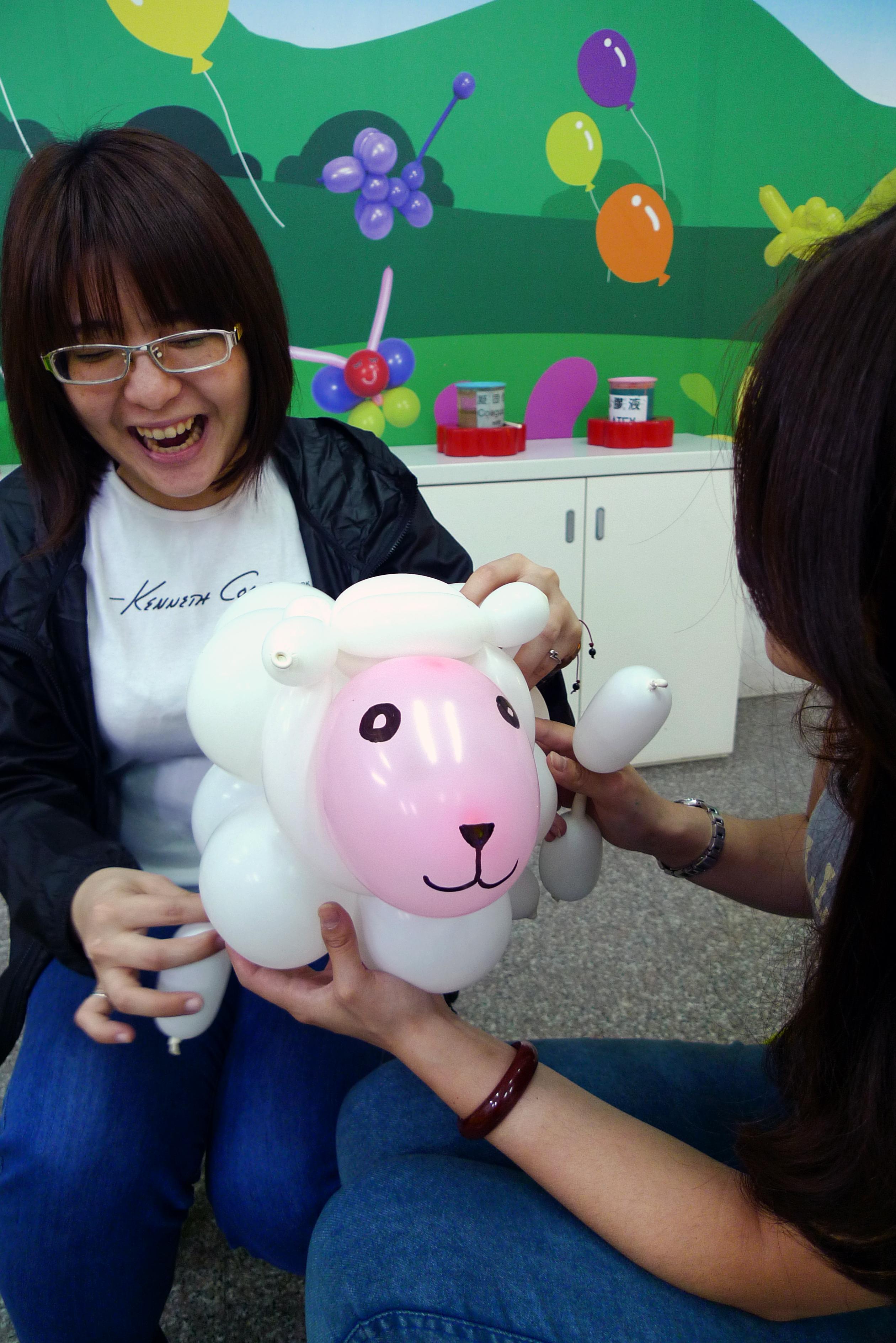 小羊造型氣球DIY